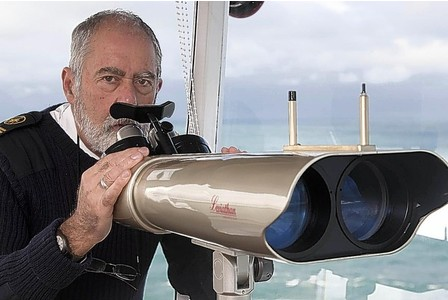 Pete Munday (Operations Manager) with new binoculars