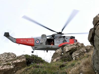 Royal Navy Search & Rescue Seaking helicopter