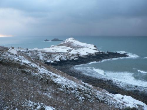 Cape Cornwall in the Snow