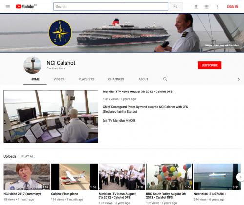 picture of NCI Calshot YouTube channel