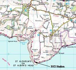 OS Map of the St Alban's Head Area